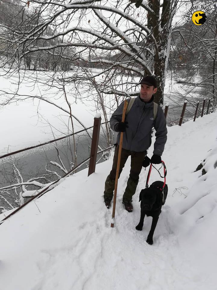 Antal and Indigo like to hike together