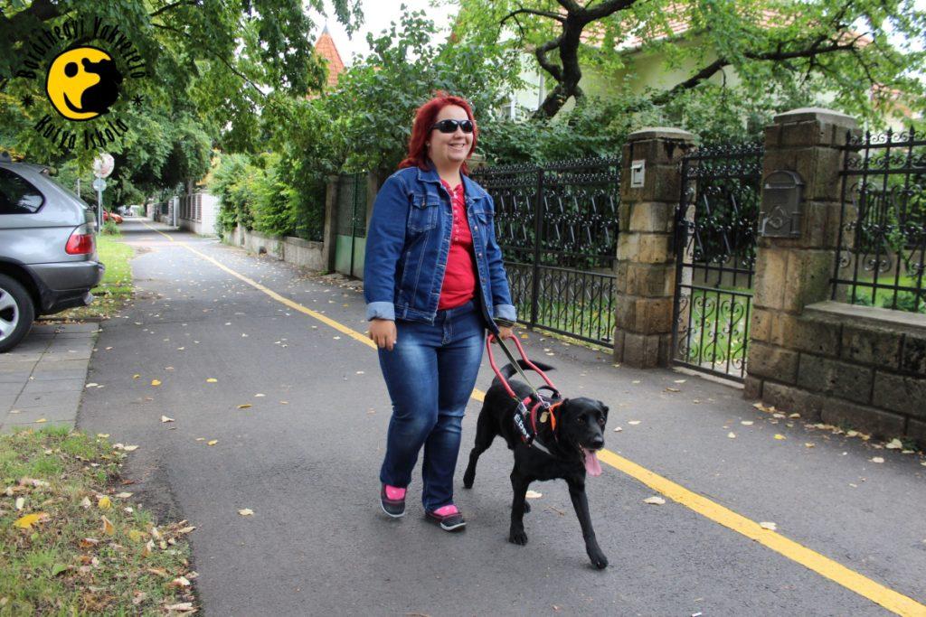 Ében büszkén, és vigyázva kíséri Dórát az egyetem felé vezető úton